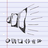 Simple doodle of a speaker Stock Photography