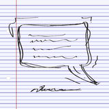 Simple doodle of a speech bubble Stock Image