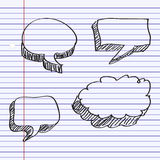 Simple doodle of a speech bubble Royalty Free Stock Photos