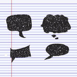Simple doodle of a speech bubble Royalty Free Stock Image