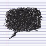Simple doodle of a speech bubble Stock Photo