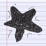 Simple doodle of a star Stock Photos