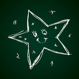 Simple doodle of a star Stock Photo
