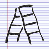 Simple doodle of a step ladder Stock Images