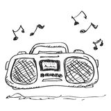 Simple doodle of a stereo Royalty Free Stock Photo