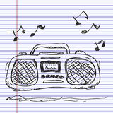 Simple doodle of a stereo Stock Photography