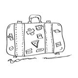 Simple doodle of a suitcase Stock Images