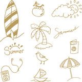 Simple doodle summer vector Royalty Free Stock Photo