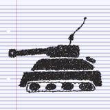 Simple doodle of a tank Stock Photos