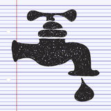Simple doodle of a tap Royalty Free Stock Images