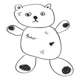 Simple doodle of a teddy bear Royalty Free Stock Photo