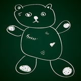 Simple doodle of a teddy bear Royalty Free Stock Photos