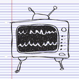 Simple doodle of a television Royalty Free Stock Images