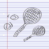 Simple doodle of a tennis racket Stock Photo