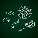 Simple doodle of a tennis racket Royalty Free Stock Photography