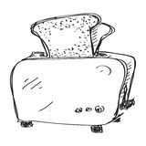 Simple doodle of a toaster Stock Photo