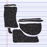 Simple doodle of a toilet Royalty Free Stock Photos