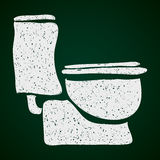 Simple doodle of a toilet Stock Photography
