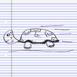 Simple doodle of a tortoise Stock Images
