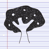 Simple doodle of a tree Royalty Free Stock Photos
