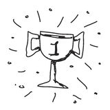 Simple doodle of a trophy Royalty Free Stock Photos