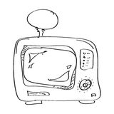 Simple doodle of a TV Royalty Free Stock Images