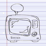 Simple doodle of a TV Royalty Free Stock Photo