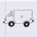 Simple doodle of a van Stock Photo