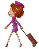 A simple drawing of an air hostess Royalty Free Stock Photography