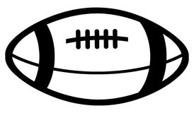 Simple drawing of an American football ball of black color royalty free stock photo
