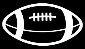 Simple drawing of an American football ball of white color Royalty Free Stock Photo