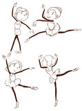 A simple drawing of the ballet dancers Royalty Free Stock Images