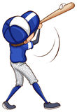 A simple drawing of a baseball player Stock Photo