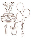 A simple drawing of a birthday celebration Royalty Free Stock Image