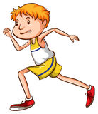 A simple drawing of a boy running Royalty Free Stock Image