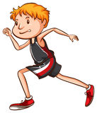 A simple drawing of a boy running Royalty Free Stock Photo