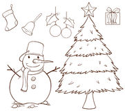 A simple drawing for Christmas Stock Photography