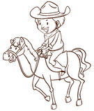 A simple drawing of a cowboy Royalty Free Stock Images