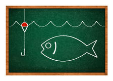 Fishing drawing Royalty Free Stock Photos