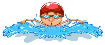A simple drawing of a man swimming Stock Photography