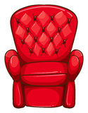 A simple drawing of a red chair Royalty Free Stock Photo