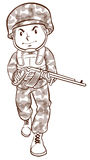A simple drawing of a soldier Royalty Free Stock Images