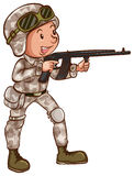 A simple drawing of a soldier Stock Photos