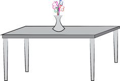Simple drawing of table Royalty Free Stock Image