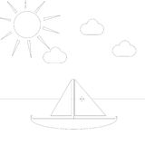 Simple drawing to color Royalty Free Stock Photos