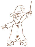 A simple drawing of a wizard Stock Photos