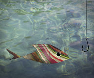 Simple Fishing Abstract Royalty Free Stock Photo