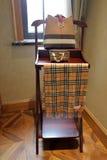 Simple dressing table near the window stock photos