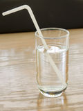 Simple Drinking straw refracted Stock Image