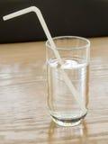 Simple Drinking straw refracted. Bangkok, Thailand - Aug 13, 2014 : Simple Drinking straw refracted Stock Image